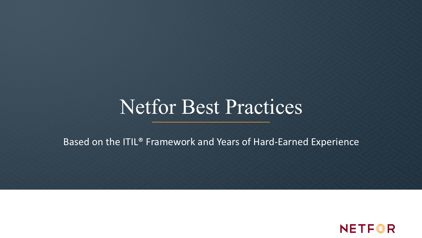Call Center Excellence Best Practices at Netfor